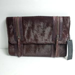 NWT Kenneth Cole Collection Purple Cow Hair Bag